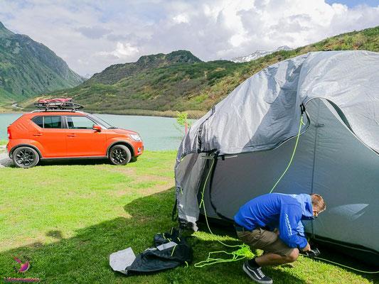 Campingplatz Zeinisee im Paznauntal