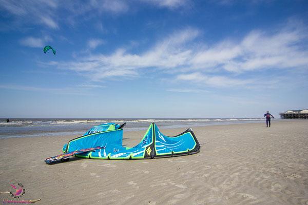 Kitesurfen in St. Peter-Ording, Kitesurfurlaub an der Nordsee