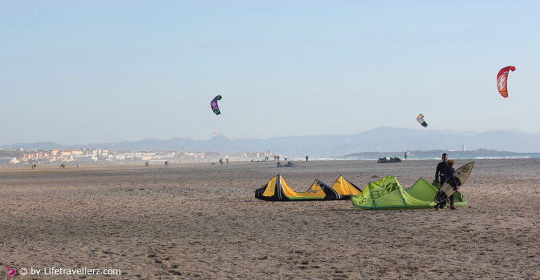 Kitespot Landebahn, Tarifa, Andalusien, Spanien