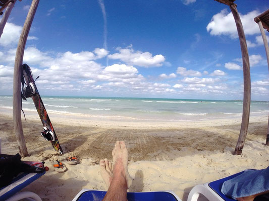 Strandblick auf Cayo Coco auf Kuba