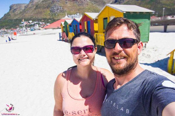 Strandhäuschen in Muizenberg Kapstadt
