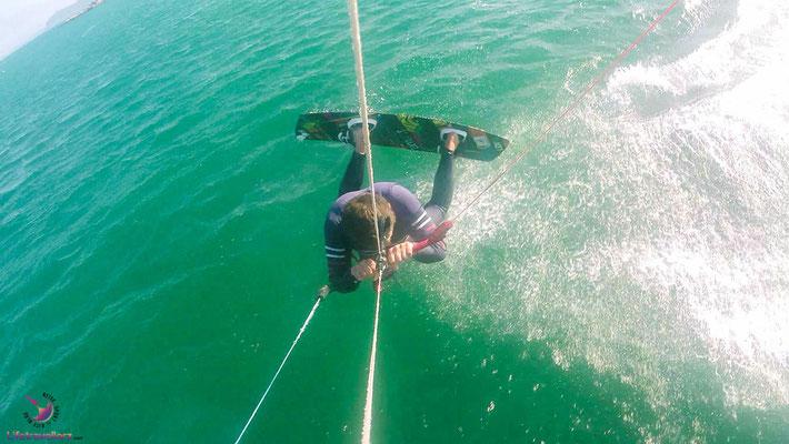 Freestyle Kitesurfen in Langebaan Südafrika