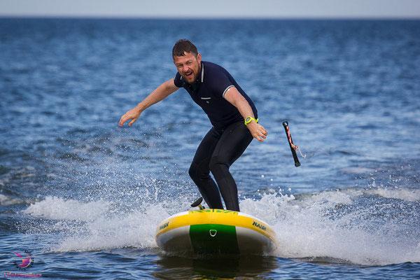 Wake-SUP an der Ostsee