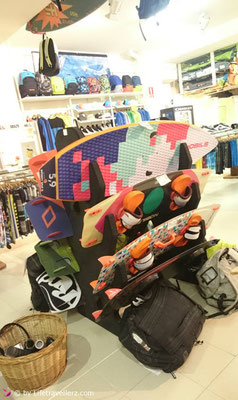 Kiteboards im Surfshop