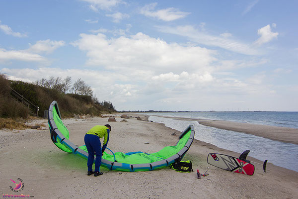 Kitespot am Campingplatz Dreyby  in Kegnaes