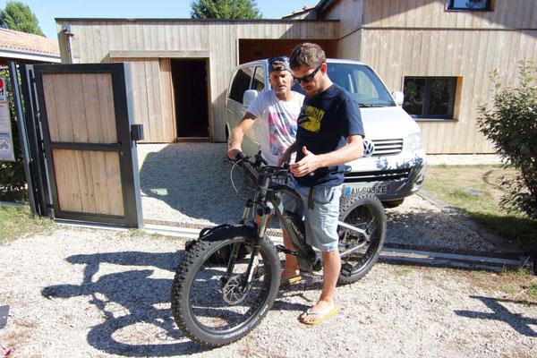 Fat E-Bike fahren