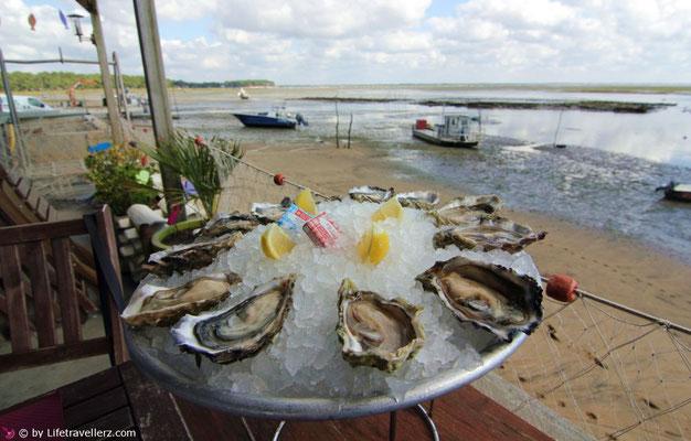 Austern essen am Cap Ferret