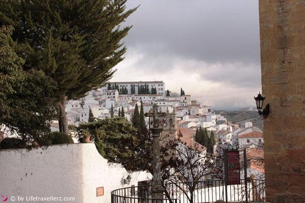 Blick auf neues Stadtviertel in Ronda