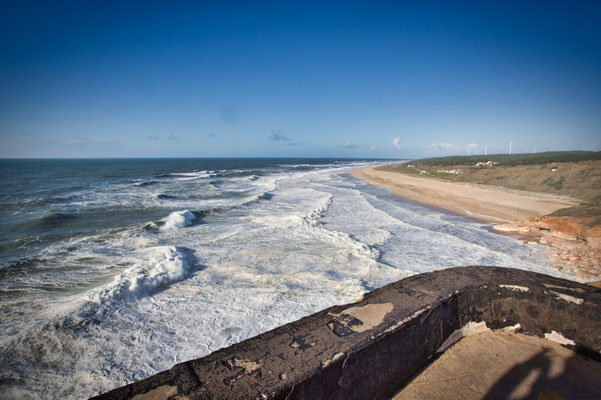 Nazare in Portugal im Winter