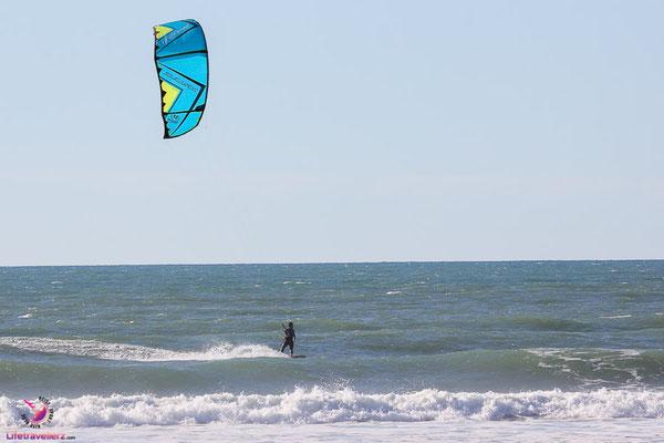 Kitesurfen in Aquitanien, Frankreich