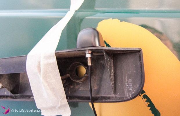 Ampire Rückfahrkamera im VW T5 nachrüsten, Lifetravellerz.com