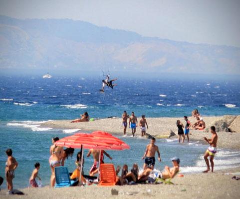 Kitesurfing Reggio Calabria, Kalabrien, Italien