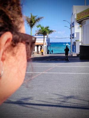 Blick auf den Strand von Corralejo