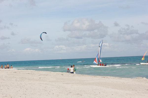 Kitesurfer in Kuba
