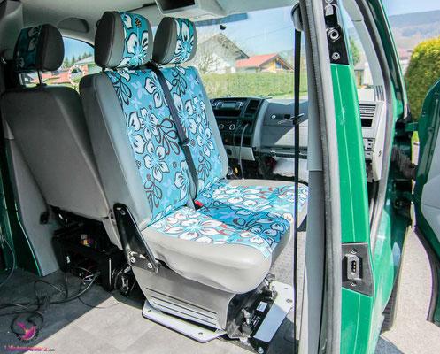 Drehsitzkonsole Doppelsitzbank VW T5 Transporter