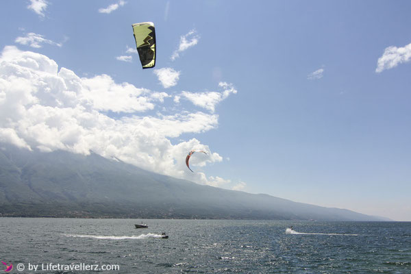 Roadtrip durch Italien, Kitesurfen in Campione