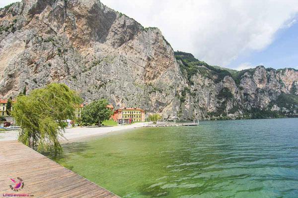 Kitesurfspot Campione am Gardasee Blick Richtung Norden