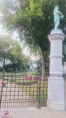 Statue beim Sightjogging in Brüssel by Lifetravellerz