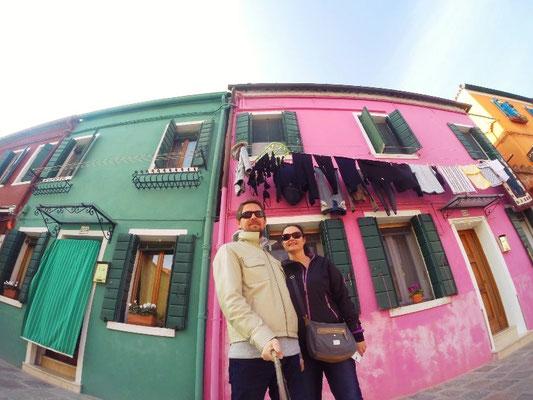 Burano in Venedig in Italien
