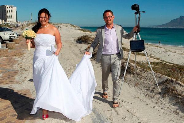 Hochzeit am Strand in Kapstadt