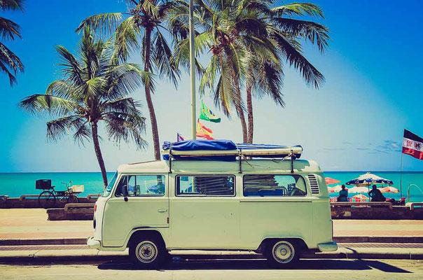 Mit dem VW Bus auf Reisen unterwegs