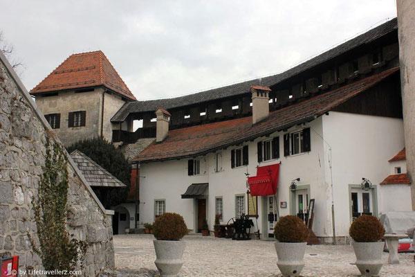 Innenhof Burg von Bled