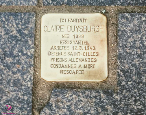 Stolperstein beim Sightjogging in Brüssel by Lifetravellerz