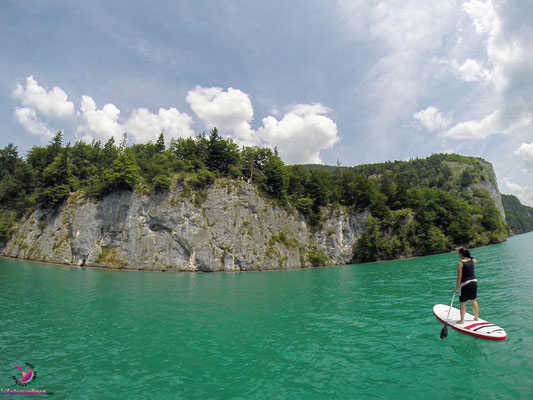 Stand Up Paddling am Wolfgangsee
