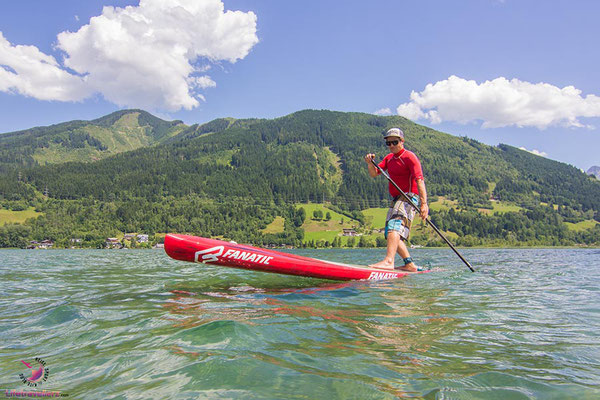 Stand Up Paddling am Zeller See
