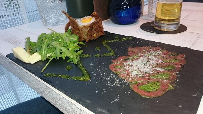 Capaccio im Calouba Californian Restaurant in Thalgau
