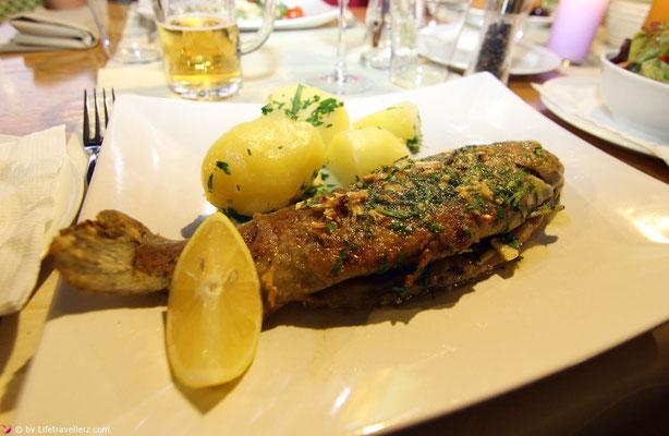 Forelle im Restaurant Bergpfeffer