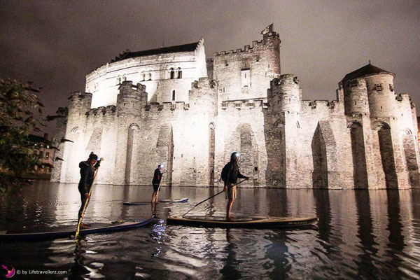 Night SUP Tour durch Gent