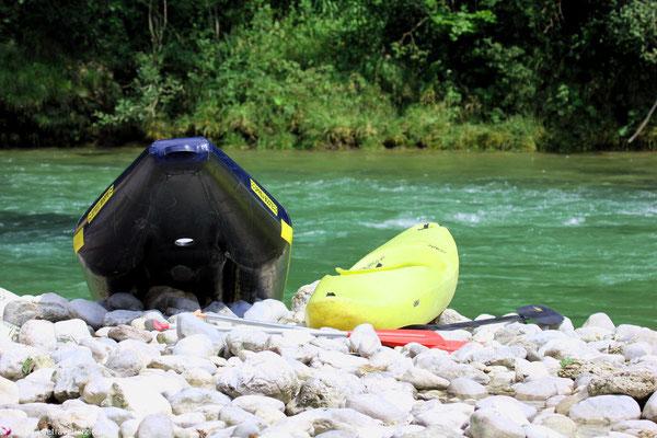 Kanu fahren auf der Steyr