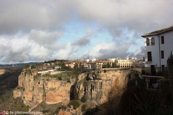 Schlucht in Ronda, Andalusien.
