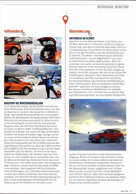 Lifetravellerz im Suzuki Print Magazin Way of Life