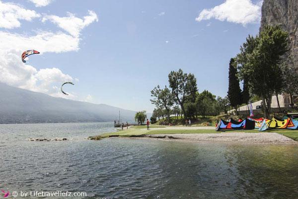 Roadtrip durch Italien, Kitesurfen in Campione