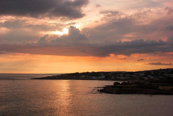 Sonnenuntergang in Kalabrien