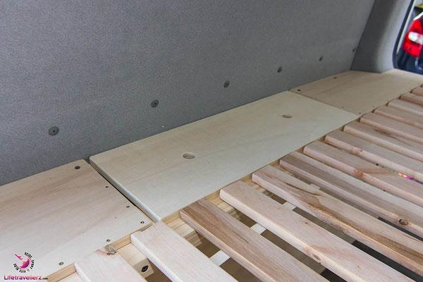 VW T5 Bus Ausbau Möbelbau - Auffahrkeile Box