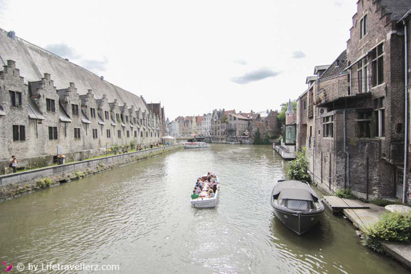 Sightseeing in Gent, Belgien