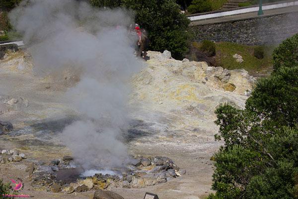 Heiße Quellen auf der Azoreninsel Sao Miguel