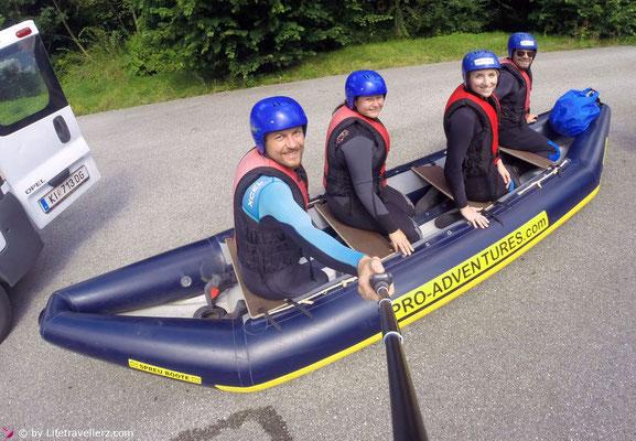 Trockentraining beim Kanu fahren