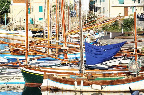 Segelboote im Hafen auf Sardinien