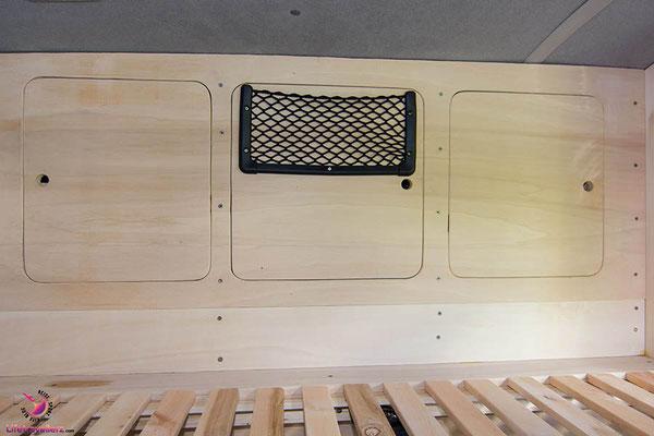 VW T5 Bus Ausbau Möbelbau - Fahrerseite Oberschrank