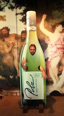 Lebende Weinflasche