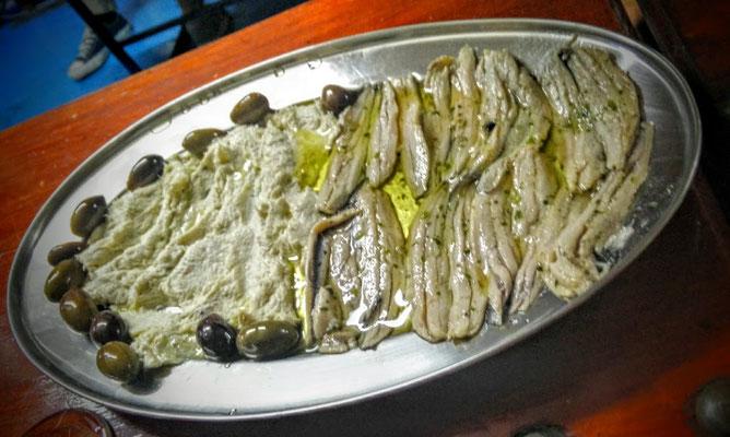 Fisch Vorspeise in Piran im slowenischen Portoroz
