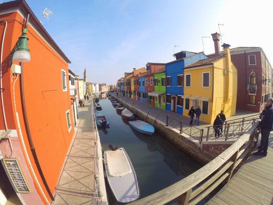 Kanäle in Burano Venedig