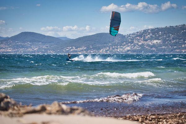 Kitesurfer in Hyères
