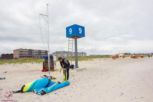 Kitespot bei der Bretterbude in Heiligenhafen