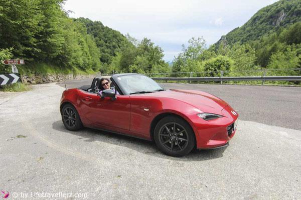 Roadtrip mit dem Mazda MX5 durch Italien