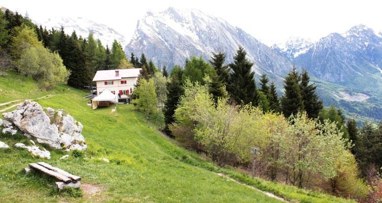 Startplatz Gleitschirm am Lago di Santa Croce